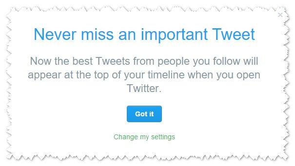 Twitter timleine